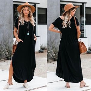 VICI | Farmers Market Pocketed Modal Maxi Dress